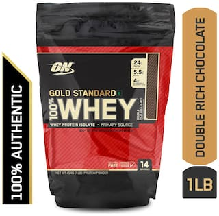 Optimum Nutrition (On) Gold Standard 100% Whey Protein Powder - 0.45 kg (1 lb) (Double Rich Chocolate)