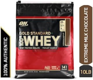 Optimum Nutrition (On) Gold Standard 100% Whey Protein Powder - 4.54 kg (10 lb) (Extreme Milk Chocolate)