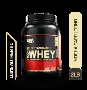 Optimum Nutrition (On) Gold Standard 100% Whey Protein Powder - 0.90 kg (2 lb) (Mocha Cappuccino)