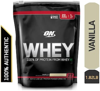 Optimum Nutrition (ON) 100% Whey Protein Powder - 0.82 kg (1.82 lb) (Vanilla)