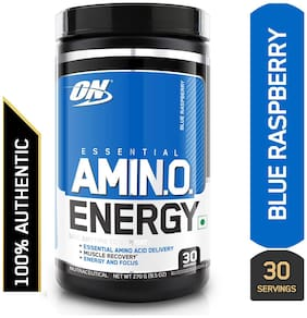 Optimum Nutrition (ON) Amino Energy - 30 Servings (Blue Raspberry)