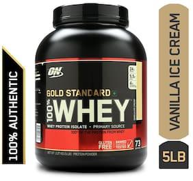 Optimum Nutrition (On) Gold Standard 100% Whey Protein Powder - 2.27 kg (5 lb) (Vanilla Ice Cream)