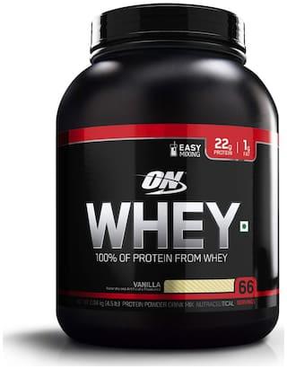Optimum Nutrition (ON) 100% Whey Protein Powder - 2.04 kg (4.5 lb) (Vanilla)