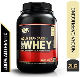 Optimum Nutrition (On) Gold Standard 100% Whey Protein Powder - 0.90 kg (2 lb) (Mocha Cappuccino)