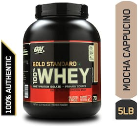 Optimum Nutrition (On) Gold Standard 100% Whey Protein Powder - 2.27 kg (5 lb) (Mocha Cappuccino)