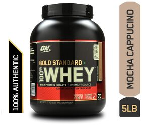 Optimum Nutrition (On) 100% Whey Gold Standard - 2.27 kg (5 lb) (Mocha Cappuccino)