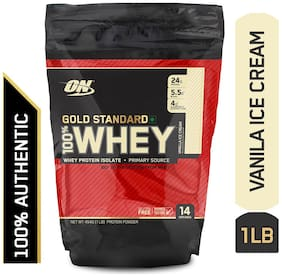 Optimum Nutrition (On) Gold Standard 100% Whey Protein Powder - 0.45 kg (1 lb) (Vanilla Ice Cream)