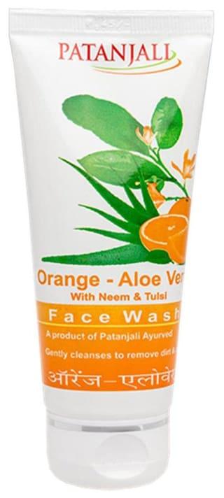 Patanjali Orange Aloevera Face Wash 60 g