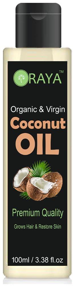 ORAYA 100% Pure & Organic Cold Pressed Coconut Oil for Hair & Skin 100 ml