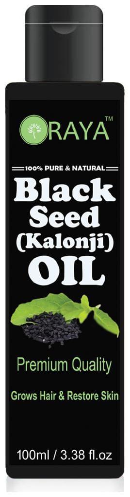 ORAYA 100% Pure & Organic Cold Pressed Black Seed(Kalonji) Oil for Hair & Skin 100 ml