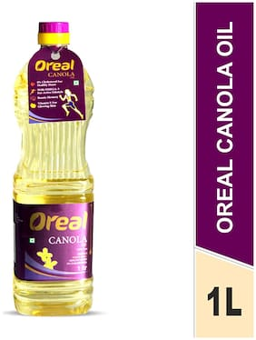 Oreal 100% Pure Canola Oil for All Ages Rich in Omega -3 Preservative Free Cooking Oil-1L