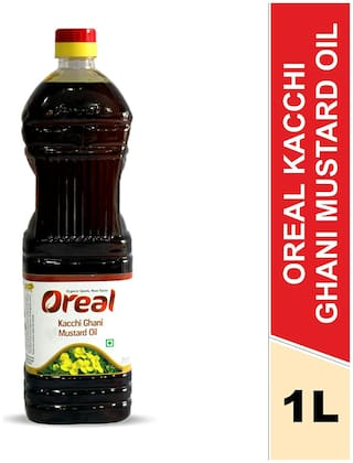 Oreal Kacchi Ghani Mustard Oil 100% Pure (Oil for All Ages) 1L