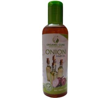 Organic Cure Onion Oil for Hair Growth & Hair Fall Control with Castor oil 100ml