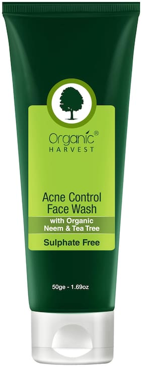 Organic Harvest Face Wash - Acne Control (Sulphate Free);50gm