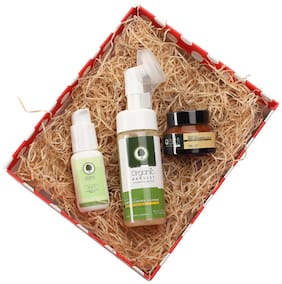 Organic Harvest Gift Box (Masseuscious Damage Control Cleanser 150ml  Embellish skin lightening cream 50g  Sunscreen with SPF 30 50g)
