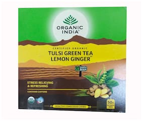 Organic India Tulsi Lemon ginger - 50 Tea bags