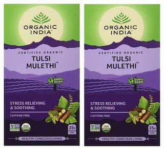 Organic India Tulsi Mulethi - 25 Tea Bags ( Pack of 2 )