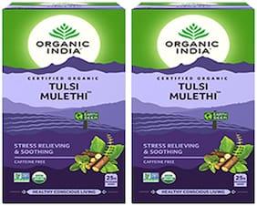 Organic India Tulsi Mulethi 25 Teabags (Pack of 2)
