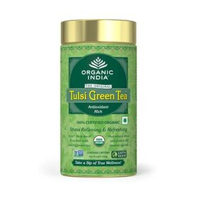Organic India Tulsi Green 100 GM Tin (Pack of 1)