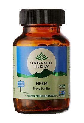 Organic India Neem 60 Capsules Bottle