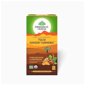 Organic India Ginger Turmeric tea bags 25Pcs ( Pack of 2 )