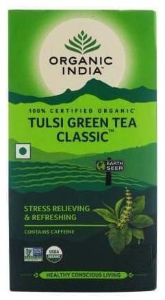 Organic India Tulsi Green Tea Classic Tea Bag;50pcs ( Pack of 2 )