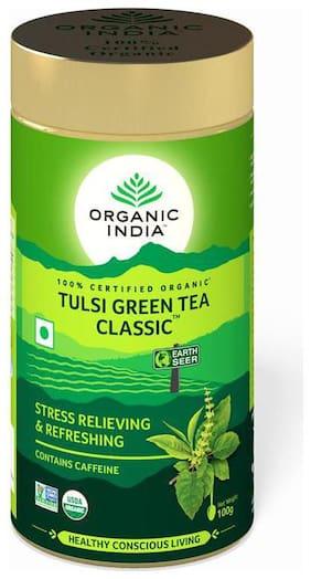 Organic India Tulsi Green Tea Classic 100g Tin