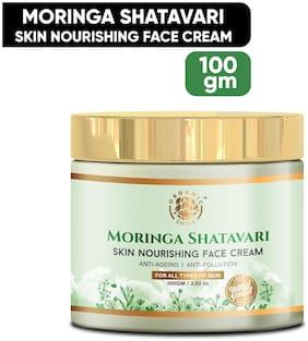 Organic Shine Moringa Shatavari Skin Nourishing,Anti Pollution & Anti Aging Face Cream Enriched with Olive Oil,Mango,Aloe Vera,Rosemary & Vitamin E 100 g