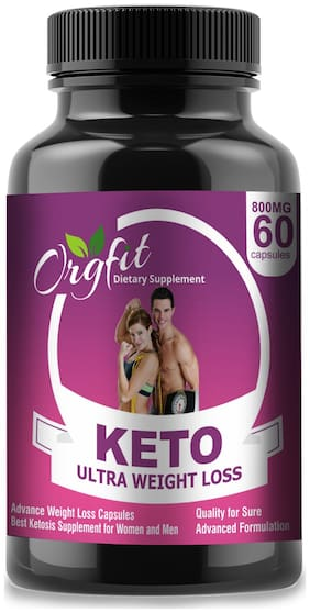 Orgfit Keto Advanced Weight Loss Supplement with(Green Tea + Garcinia Cambogia + Green Coffee) Extract 800mg 60 Capsules