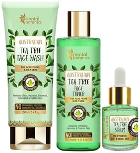 Oriental Botanics Australian Tea Tree Face Brightening Combo(face wash  100ml  face toner  150ml  serum 50ml) (Pack of 3)