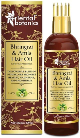 Oriental Botanics Bhringraj & Amla Hair Oil With Comb Applicator 200ml
