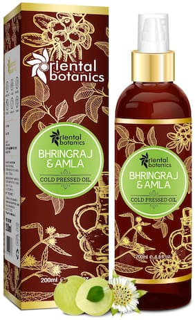 Oriental Botanics Bhringraj & Amla Oil For Hair 200ml
