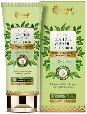 Oriental Botanics Neem/Tea Tree And Basil Anti Acne Face Scrub - 100g