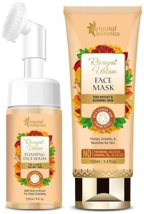 Oriental Botanics Rivayat Ubtan Face Wash With Brush (120ml) & Face Mask (100ml) (Pack of 2)