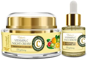 Oriental Botanics Nature's Vitamin C Night Cream (50g) & Face Serum (20ml) (Pack of 2)