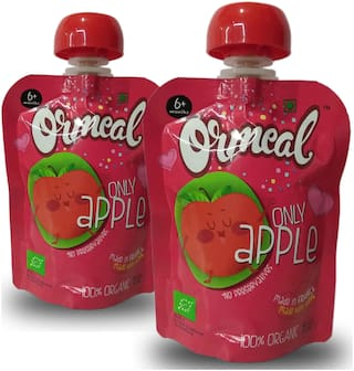 Ormeal Only Apple Organic Fruit Puree (Pack of 2)