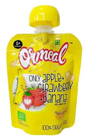 Ormeal Puree - Apple  Strawberry & Banana 90 gm