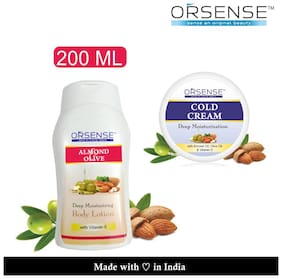 Orsense Body Lotion Offer Pack (200ml + 40g Cold Cream Free) Pack of 1