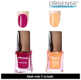 ORSENSE Nail Paint Pack of 2 (5ml Each) Purple, Gold