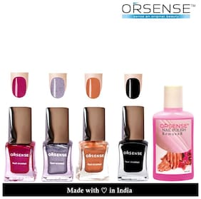 Orsense Nail Enmel Combo 50mlx4 And Nail Polish Remover 50ml (Pack of 5)
