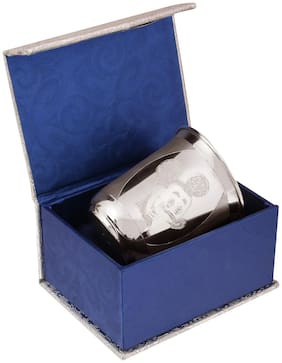 Osasbazaar Sterling Silver Baby Glass - Mickey Mouse Design - 90%-92.5% Pure BIS Hallmarked 70ML