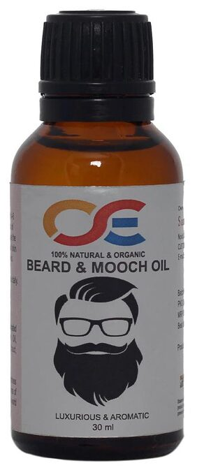 OSE Luxurious and Aromatic Beard & Mooch Oil; For- Hair Growth & Repair, Faster beard growth oil, Demaged hairs- 30 ml