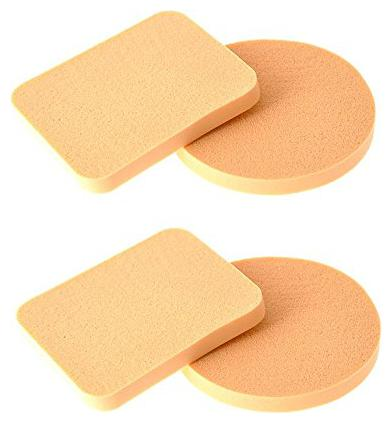Out Of Box Pack of 4 Imported Make up Cosmetic Foundation Powder Puff Sponge by Out Of Box