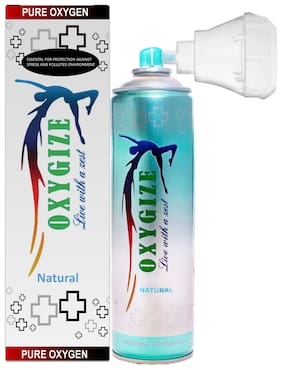 OXYGIZE  Breathing Oxygen Canister ( 10 L Approx 150 Breathe ) For Altitude, Pollution, Allergies, Fitness, recovery, jetlag and beauty