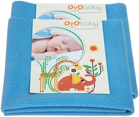 OYO BABY- Baby Bed Protector | Waterproof Dry Sheet Medium Combo Pack of 2 firoza (Each Size : 70 cm x 100 cm)