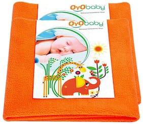 OYO BABY- Baby Bed Protector | Waterproof Dry Sheet Small Combo Pack of 2 peach(Each Size : 50 cm x 70 cm)