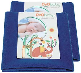 OYO BABY- Baby Bed Protector | Waterproof Dry Sheet Large Combo Pack of 2 royal blue (Each Size : 100 cm x 140 cm)