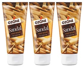 Ozone Ayurvedics Sandal Face Wash  (Pack of 3)