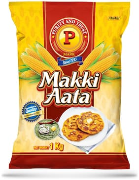 P Mark Makki Ka Atta 1 kg (Pack Of 1)