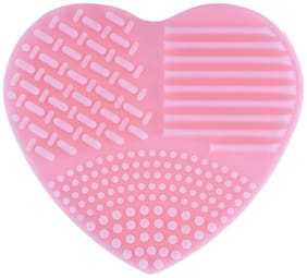 P S Retail Heart Shape Makeup Cleaner Brushes